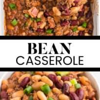 bean casserole collage