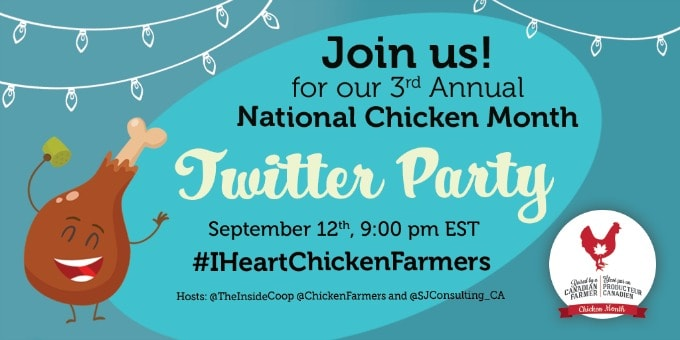 National Chicken Month Twitter Party