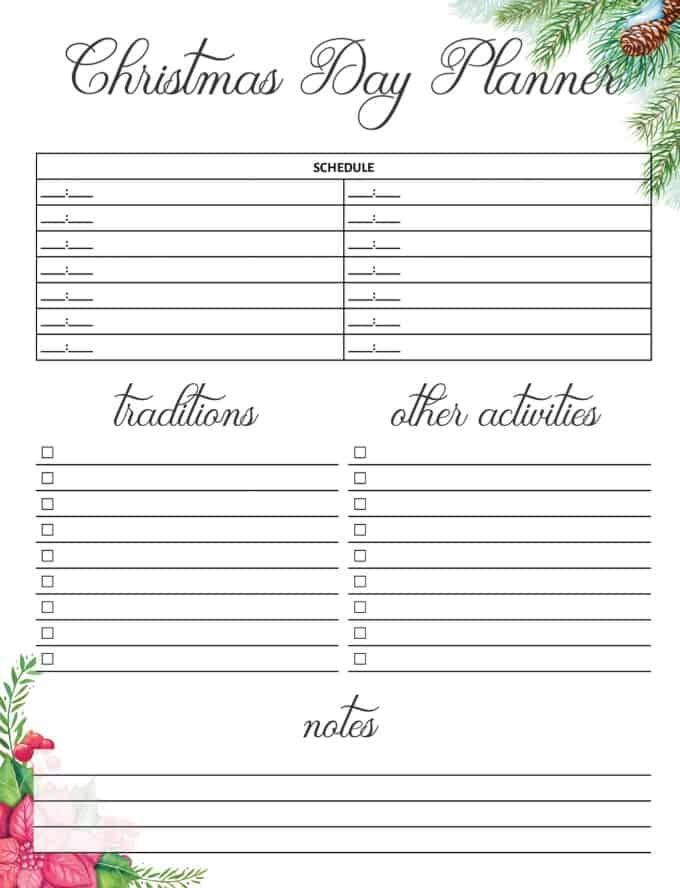 Christmas Planner Free Printable - Take the stress out of the holidays with this Christmas Planner free printable. It's exactly what you need to get organized so you can enjoy all the festivities.