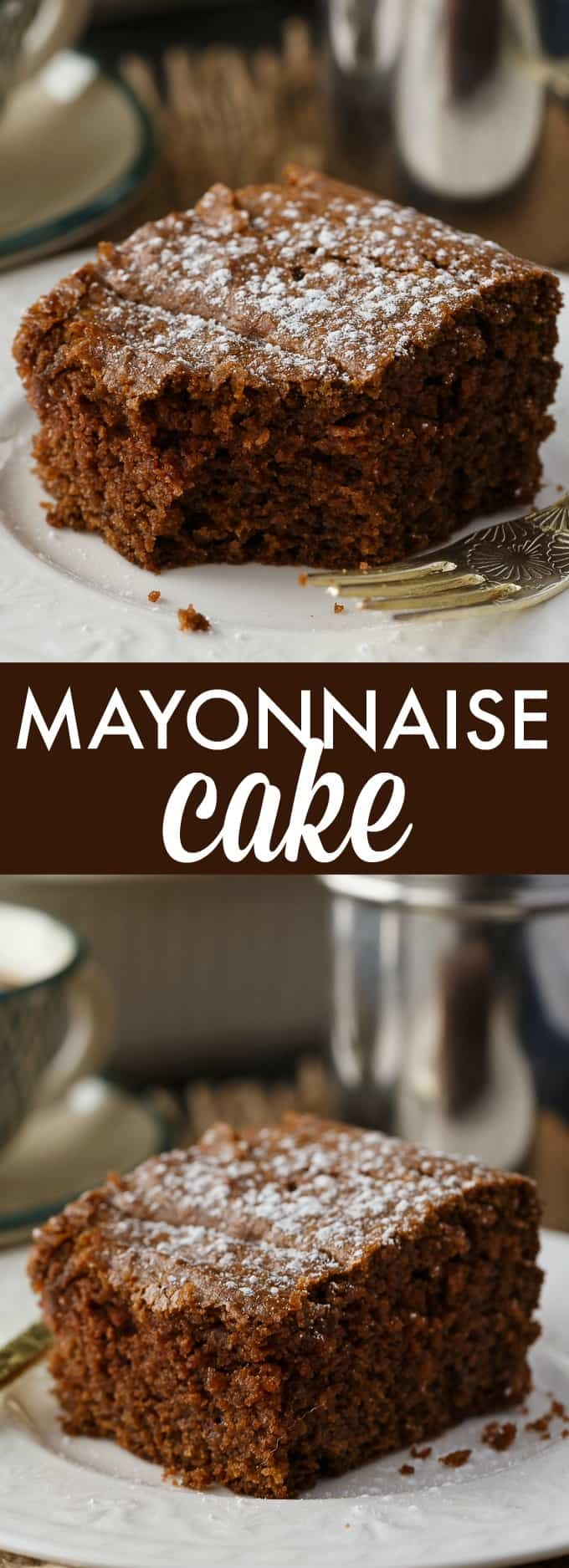 Mayonnaise Cake - Super moist and delicious. Use mayonnaise instead of eggs in this yummy chocolate cake recipe.