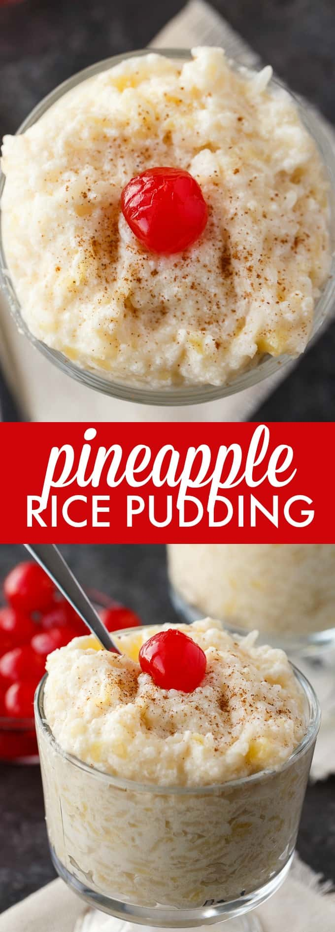 Pineapple Rice Pudding - Sweet and creamy with a hint of yummy pineapple flavor!