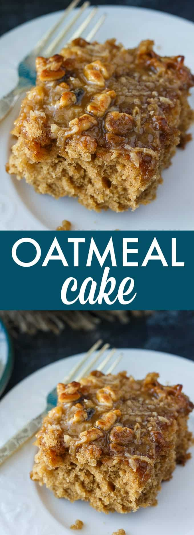 Oatmeal Cake - This incredibly moist vintage cake is covered in a sweet, buttery crunchy topping that is out of this world!