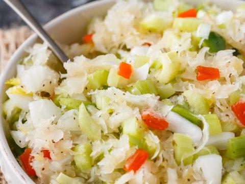 Sauerkraut Salad Simply Stacie