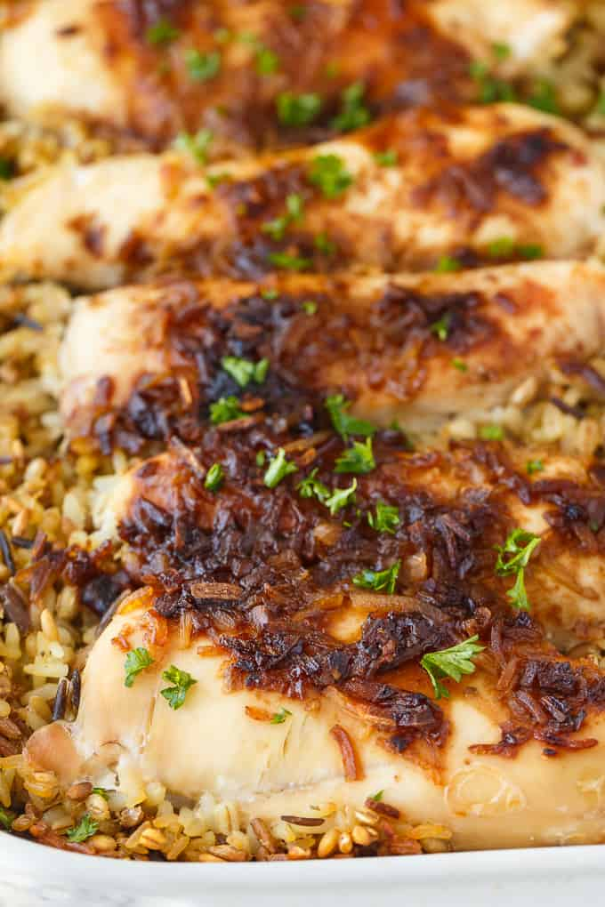 No Peek Chicken - An easy to prepare, fuss-free chicken and rice dinner your family will love.