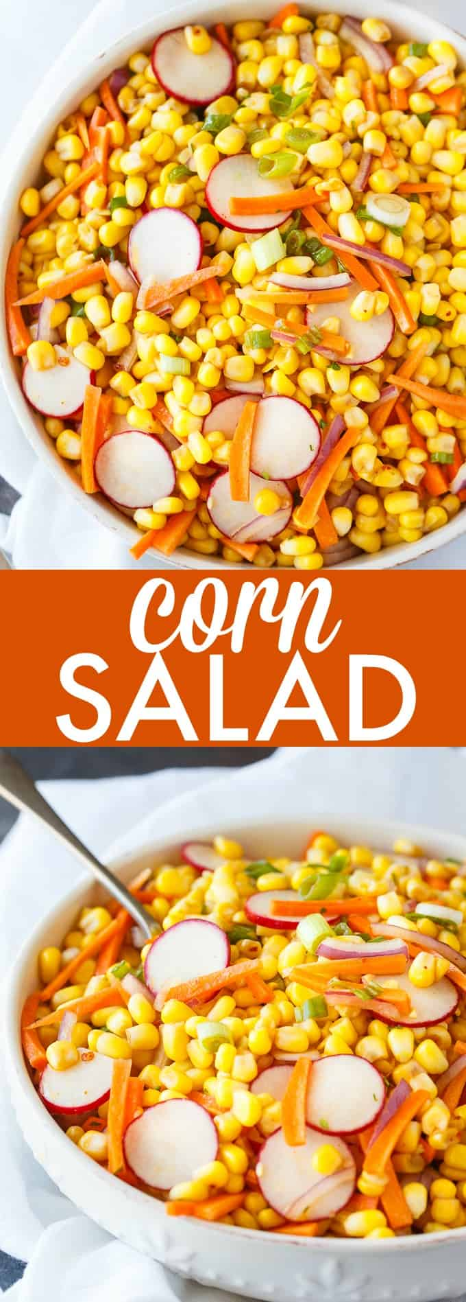 Corn Salad - Bright, colorful and tasty! Serve this delicious summer salad recipe at your BBQs and outdoor parties.
