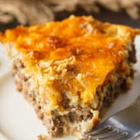 Impossible Cheeseburger Pie