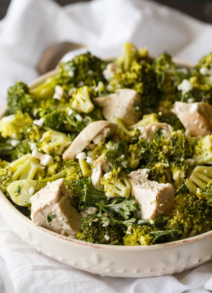 Chicken & Broccoli Salad - A creamy, flavorful dressing envelopes tender broccoli florets, chicken and green onions. This easy salad recipe is a surefire hit!