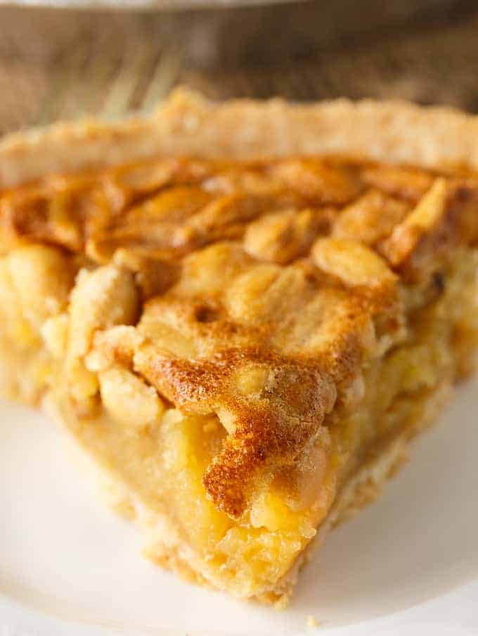 "Peanut Pie - A delicious southern dessert sometimes called, ""The poor man's pecan pie"". It has a sweet filling topped with toasted peanuts."