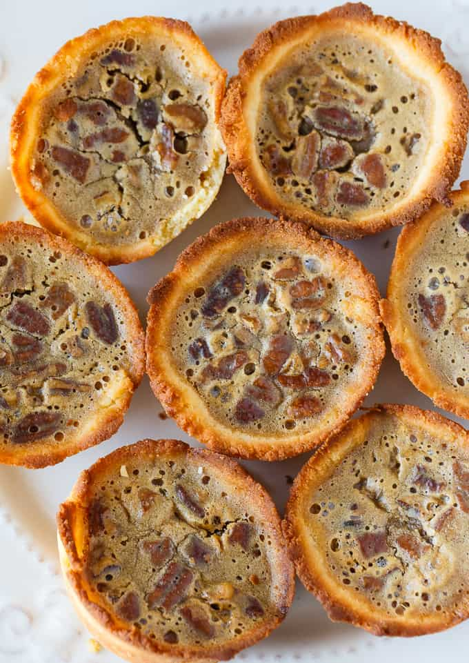 Keto Pecan Butter Tarts - A low carb version of Canada's favorite dessert! Sweet, rich and guilt-free.