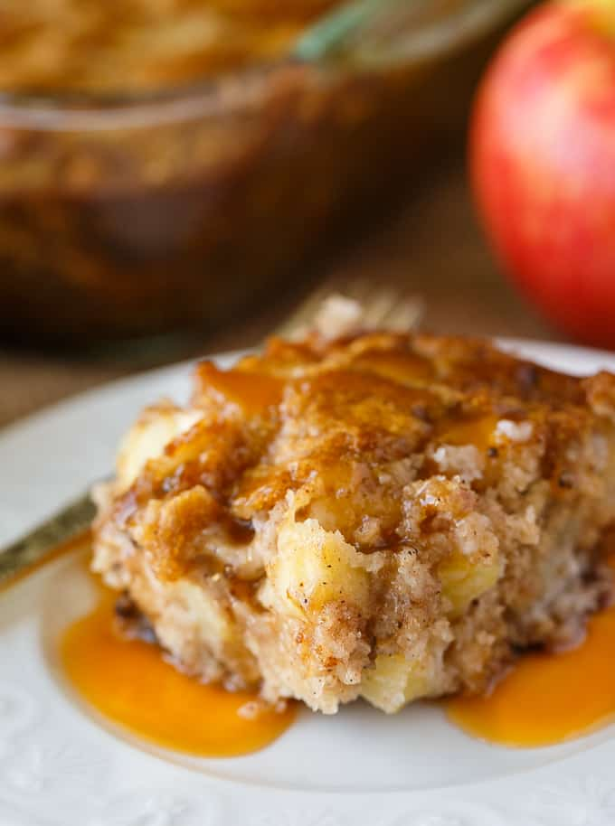 Nobby Apple Cake - An easy vintage cake recipe packed fully of apple chunks, spices and walnuts. Perfect for fall!