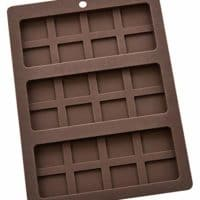 Mrs. Anderson's Baking Triple Chocolate Bar Mold, Non-Stick European-Grade Silicone, Makes 3 Standard-Sized Chocolate Bars