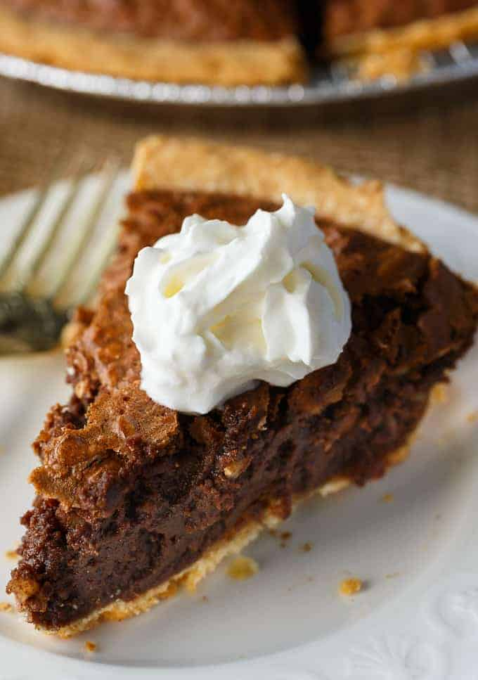 Chocolate Pecan Pie - Everyone loves this super rich and delicious pie. For people who love pecan pie and chocolate.
