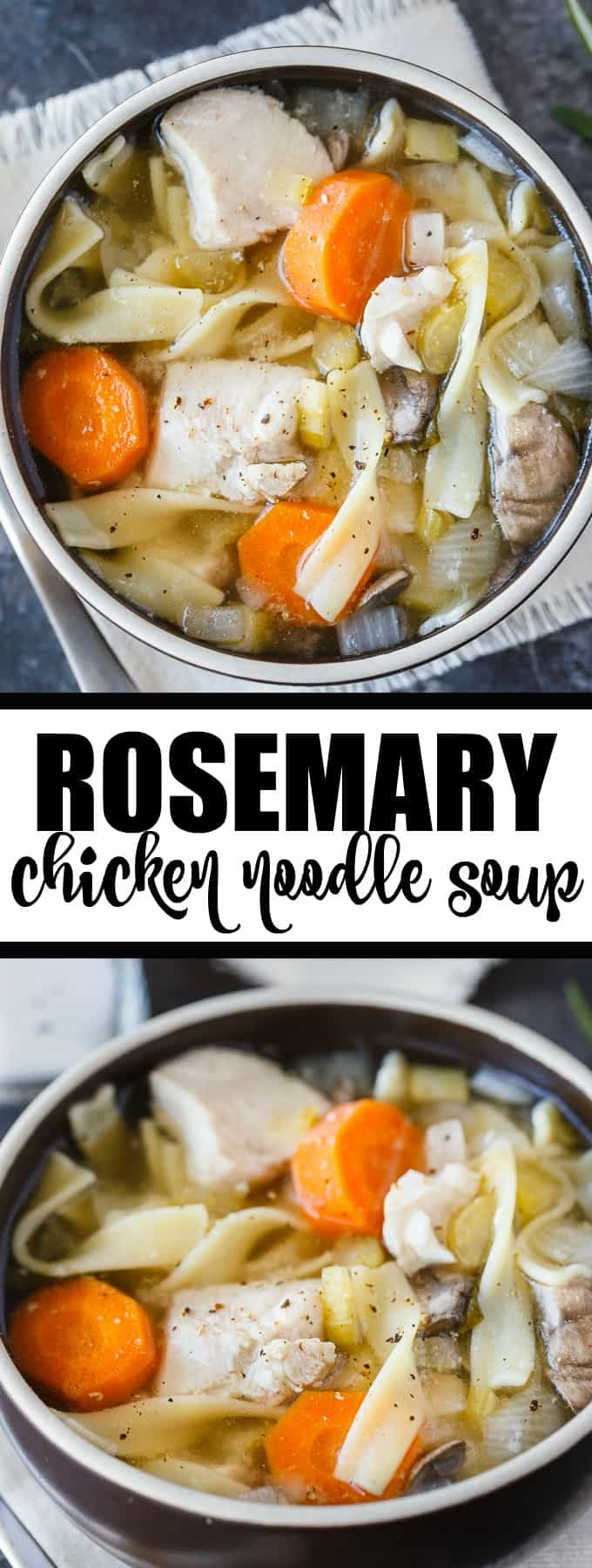 Rosemary Chicken Noodle Soup