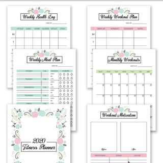 2020 Fitness Planner Free Printable - Organize your health goals for 2020! It includes a monthly meal planner, workout planner, weekly health log and more.