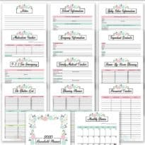 2020 Household Planner - Get organized in 2020 with free printables! This household planner has everything you need to get started.