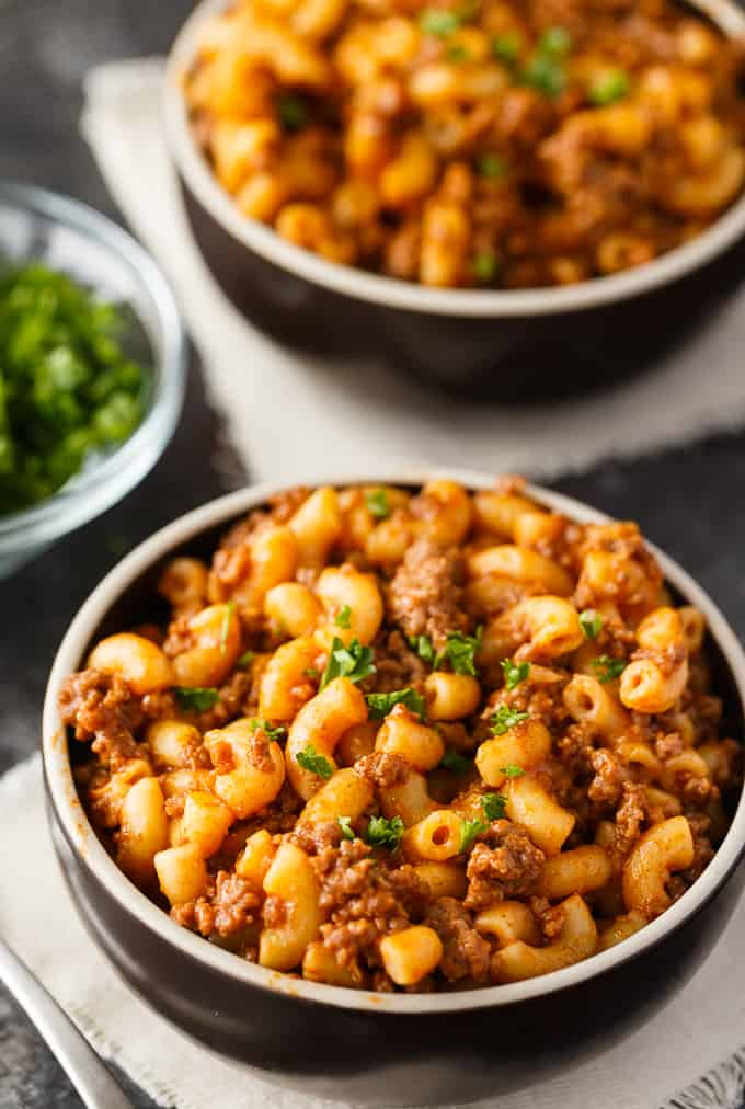 Grandma's Goulash - A comforting one-pot meal just like Grandma used to make! Enjoy tender noodles in a savory tomato-based meat sauce for an easy, delicious meal.
