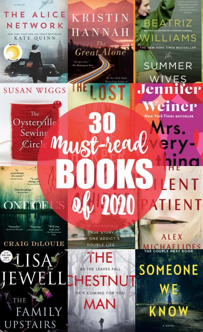 30 Must-Read Books for 2020 - Looking for some awesome books to enjoy this year? Check out our list of 30 books you should read in 2020 to find your next book!