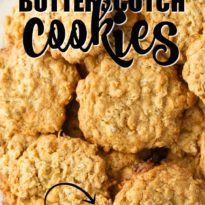 Coconut Butterscotch Cookies - Chewy and sweet cookies that can be whipped up in no time. Enjoy the delicious flavors of coconut, butterscotch and oats.