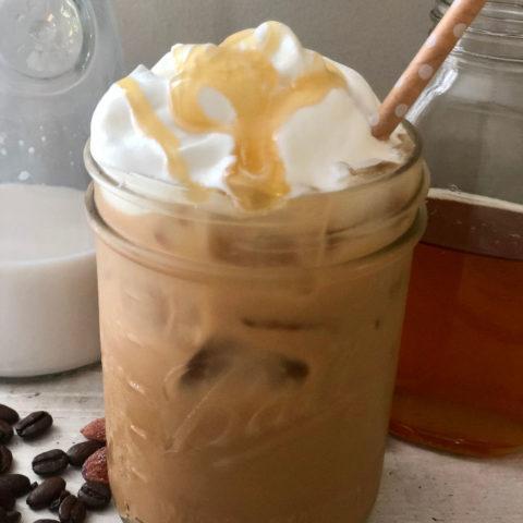 Iced Honey Almond Milk Latte