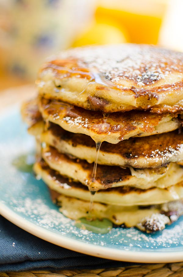 The best chocolate chip pancakes