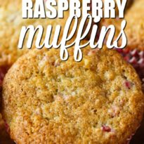 Banana Raspberry Muffins - Moist and perfectly sweet. This easy muffin recipe is made with fresh raspberries and mashed bananas with a raspberry jam center.