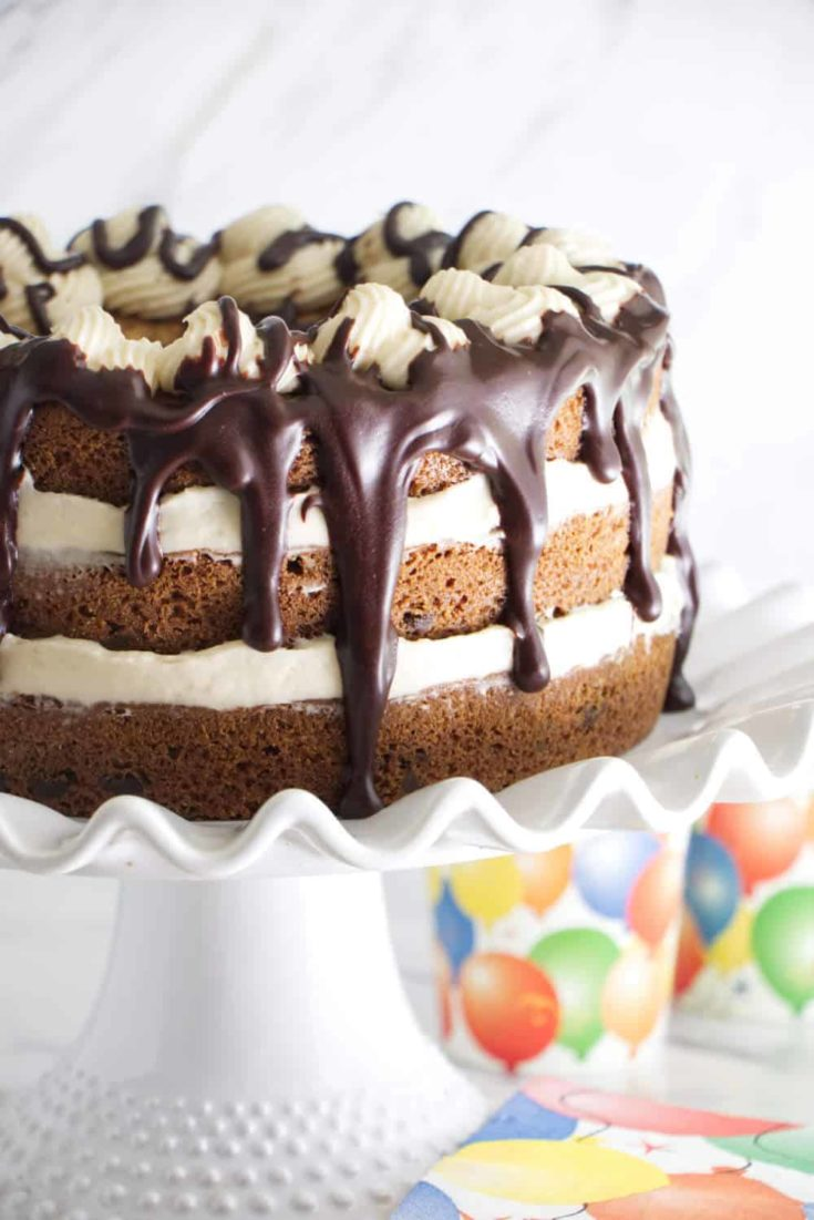 Chocolate Chip Cookie Cake with Cream Cheese Frosting