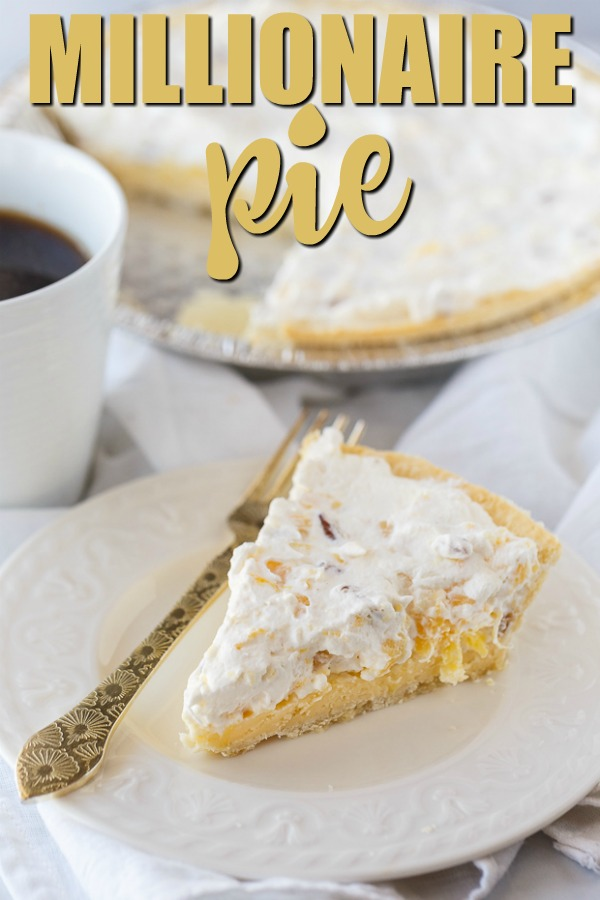 Millionaire Pie - Also known as Furr's Cafeteria Pineapple Millionaire Pie! This easy vintage recipe takes minutes to prepare. Sweet and rich, it tastes like a million bucks!