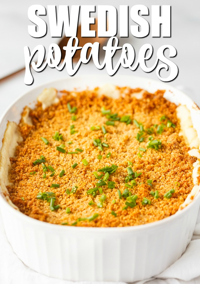 "Swedish Potatoes - An old-fashioned family recipe passed down over generations. Creamy potatoes are baked with a buttery breadcrumb topping. My husband says these are the ""best mashed potatoes ever""."