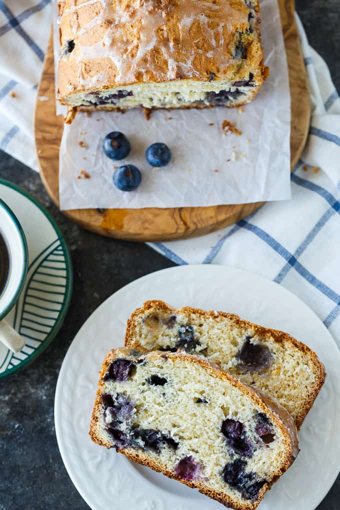 Blueberry Bread - A delicious quick bread recipe full of sweet blueberry flavor! The perfect way to use your fresh summer blueberries.