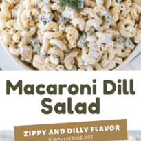 Macaroni Dill Salad - Whip up this easy pasta salad in no time to serve at your summer BBQs! Fresh dill and radishes give it an extra zip of flavor.