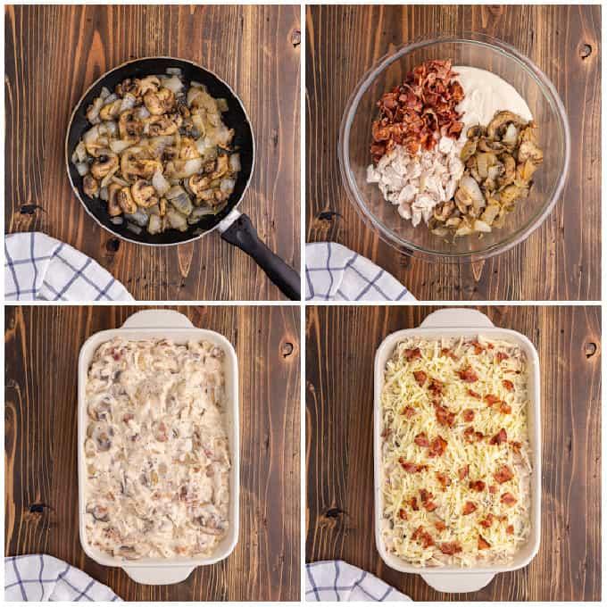 Process of making pierogi casserole