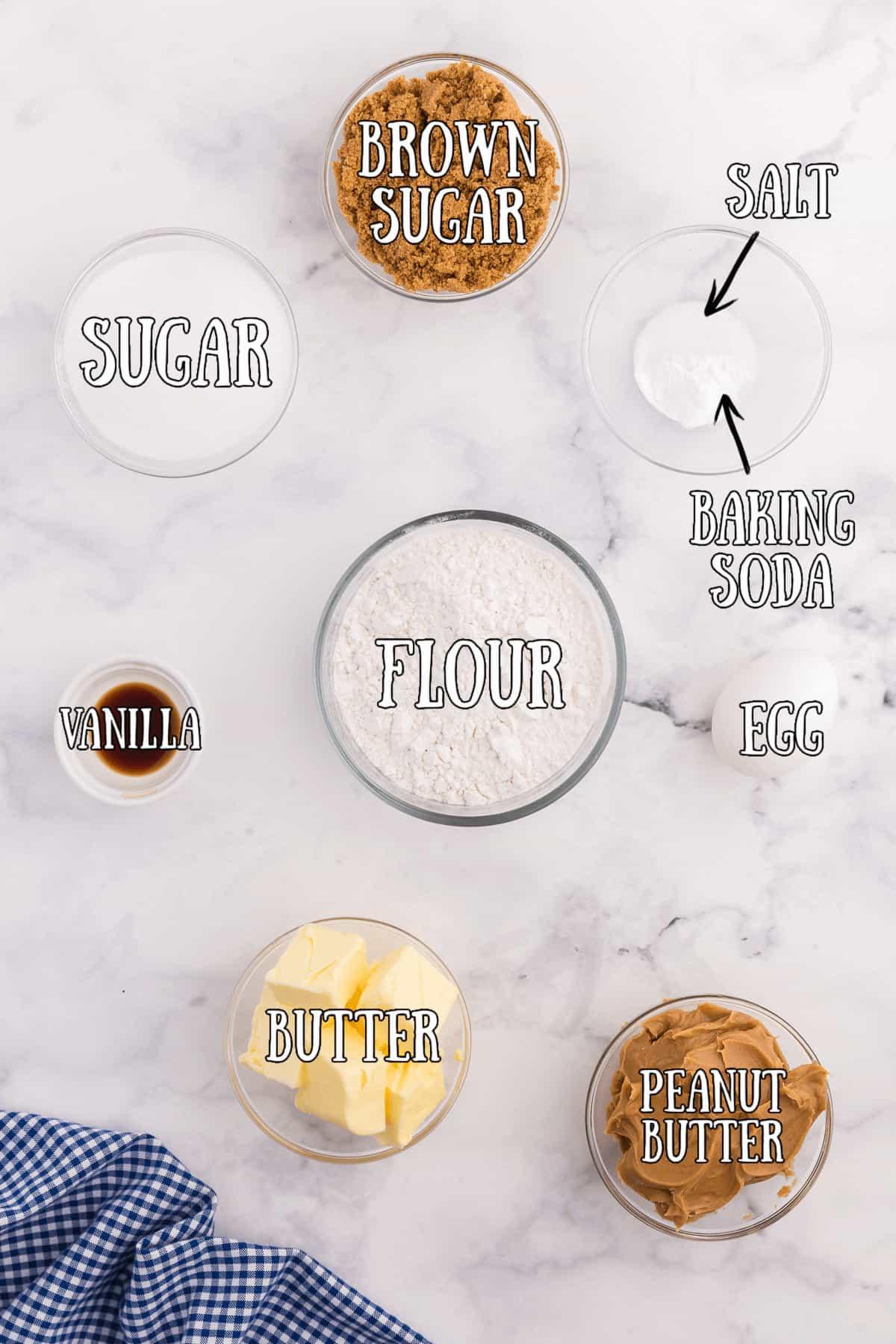 Peanut Butter Cookies ingredients