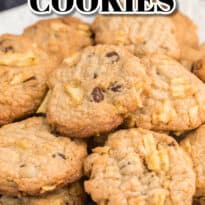 Potato Chip Cookies - The best cookie recipe to make when you're craving something salty and sweet! Packed with chocolate chips and potato chips, this easy dessert has just the right amount of crunch.