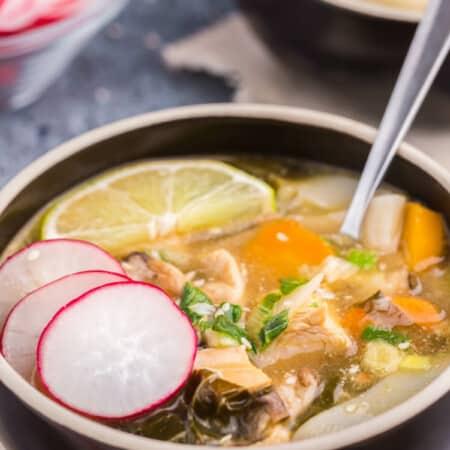 Sesame Miso Chicken Noodle Soup