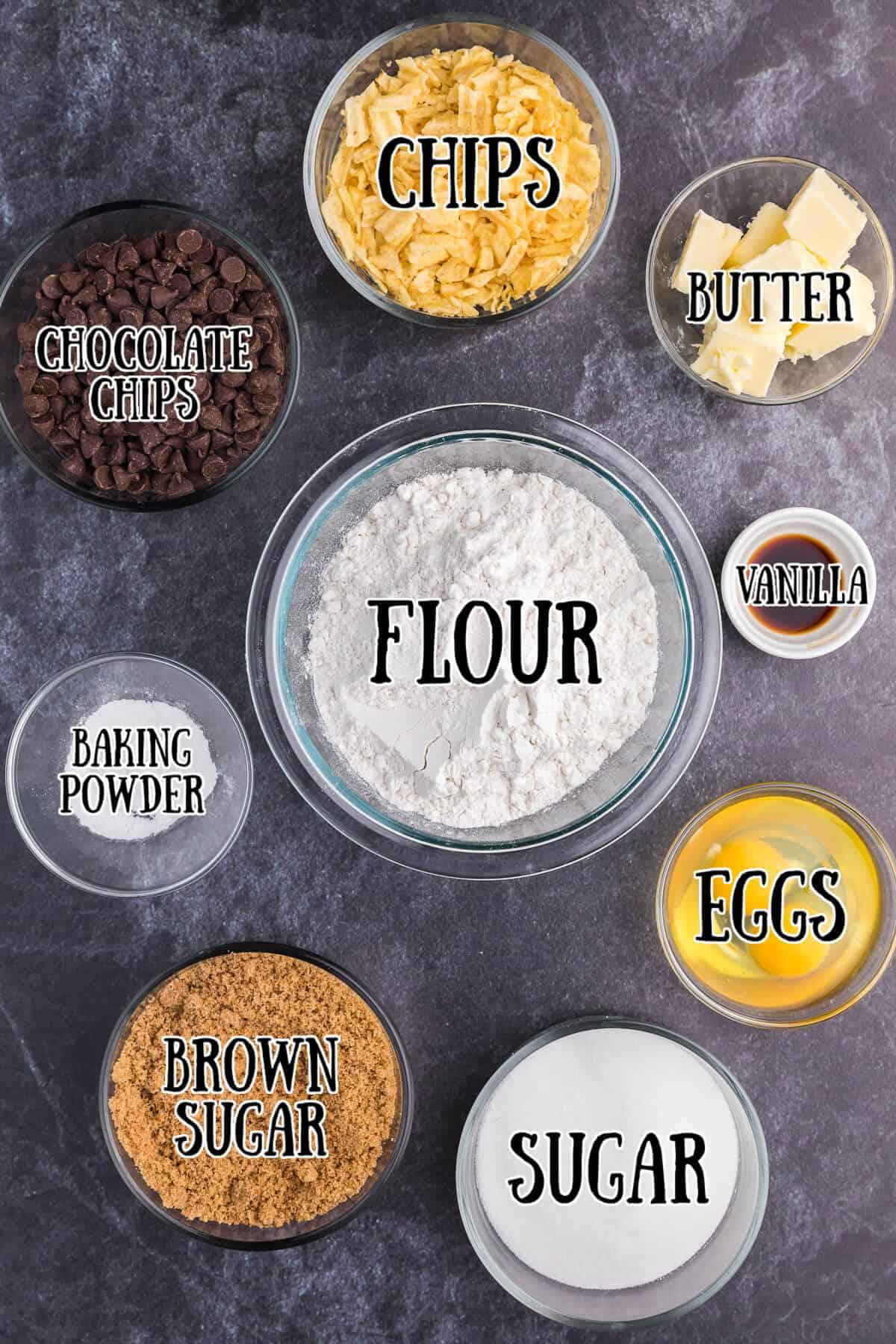 Potato Chip Cookies Ingredients