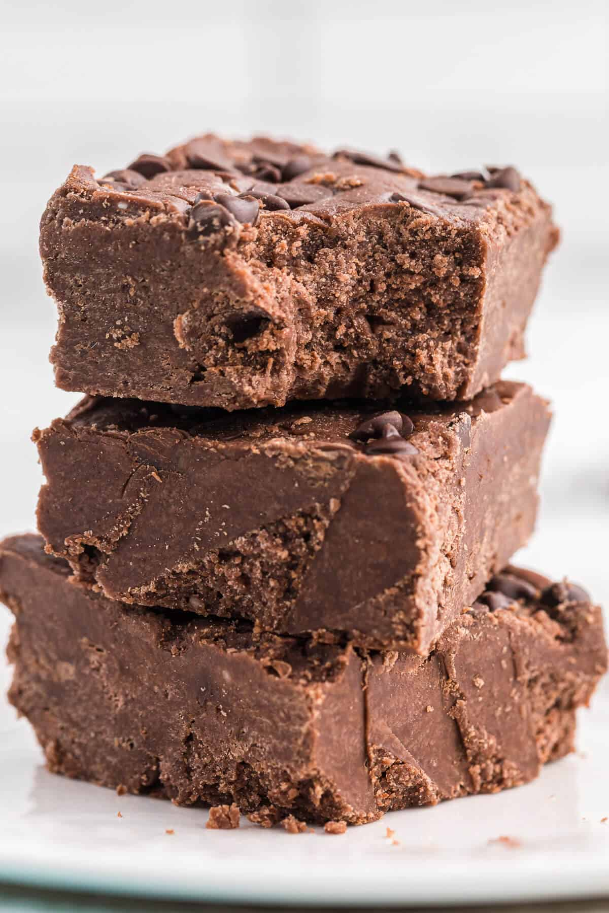 Chocolate Cake Batter Fudge - This easy fudge recipe is no bake and made with a box of cake mix. Each bite is rich and fudgy!