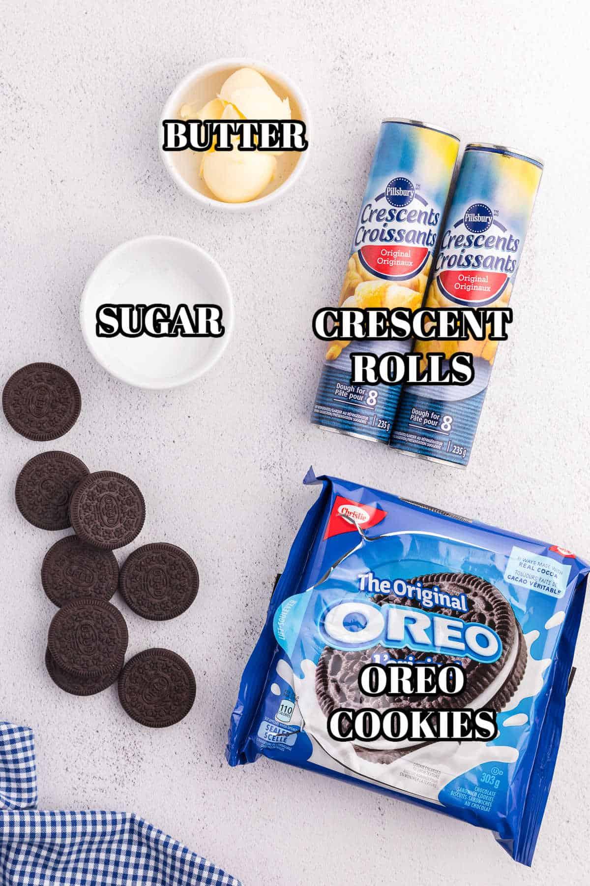 Air Fryer Oreos ingredients