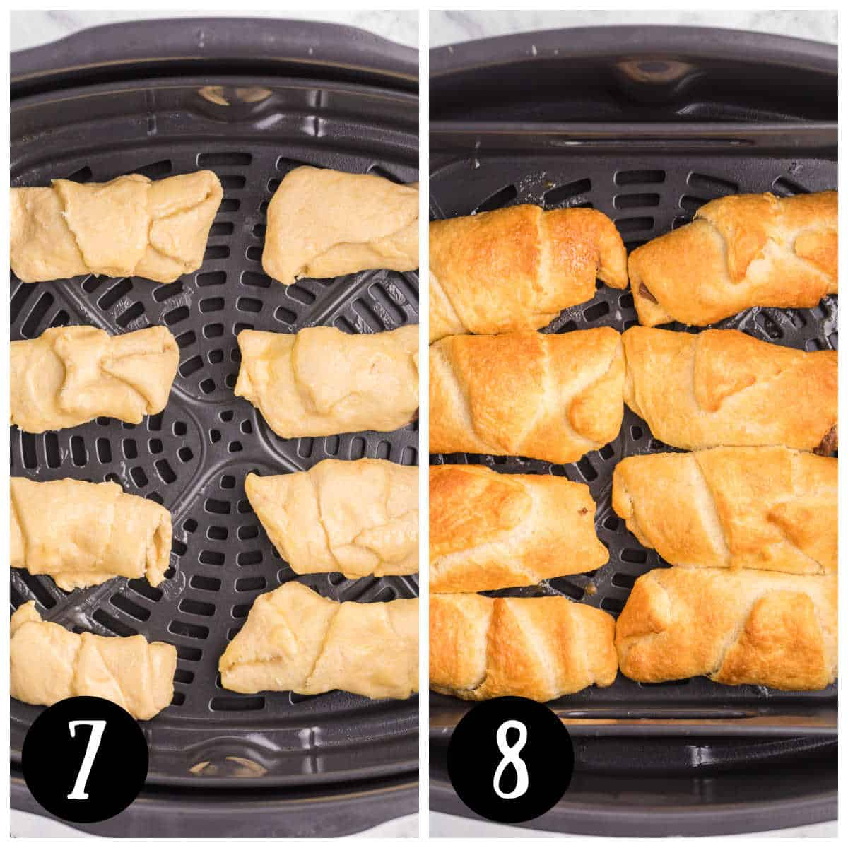 Air Fryer Chocolate Crescent Rolls Recipe