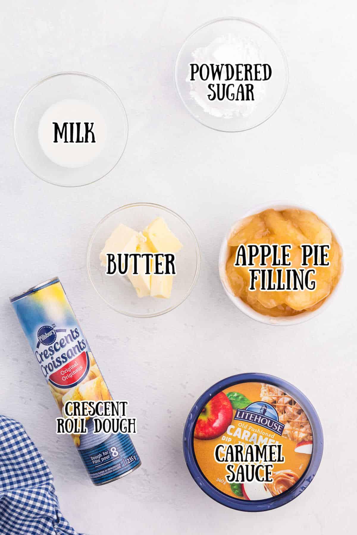 Caramel Apple Crescents Ingredients