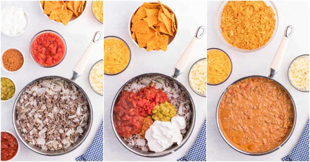 Step by Step process to make Doritos Casserole