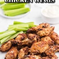 Air Fryer Chicken Wings Recipe - Use your air fryer to make the best crispy chicken wings in minutes! This easy appetizer is covered in a garlic, lemon pepper and Parmesan marinade for the most delicious flavor.