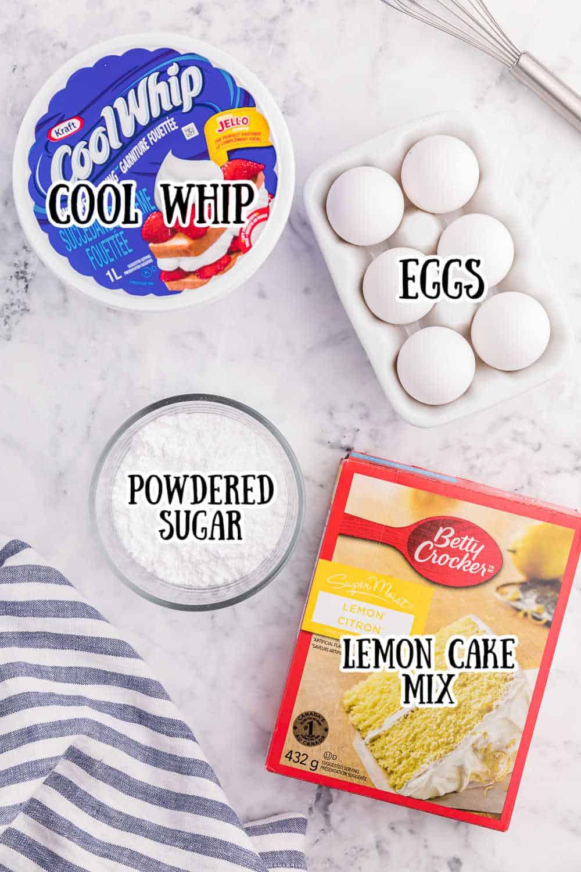 Cool Whip Cookies Recipe ingredients