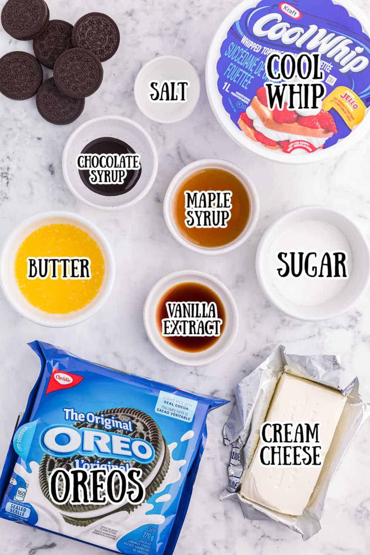 Oreo pie ingredients