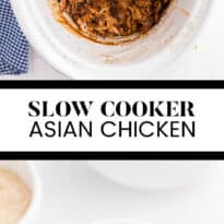 Slow Cooker Asian Chicken - This easy crockpot chicken is the perfect dinner for busy days. Tender chicken breasts are slow cooked in a flavorful sauce made with honey, garlic and spices. Serve over rice for a delicious family meal.