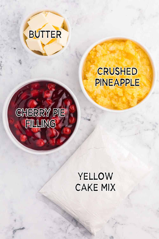 cherry pineapple dump cake ingredients