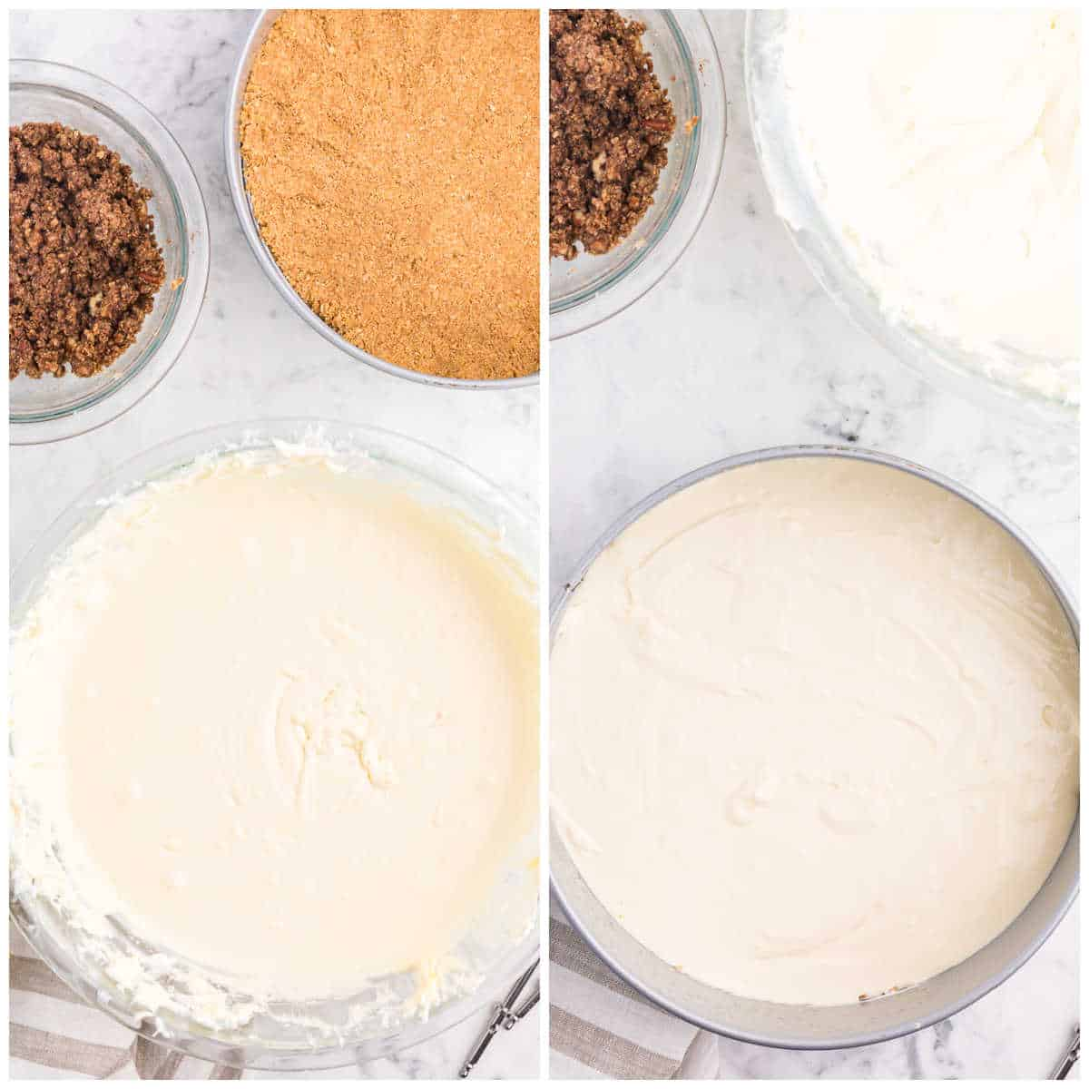 how to assemble the cheesecake
