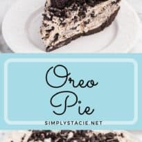 Oreo Pie Recipe - This easy no-bake pie recipe has a chocolate Oreo crust and creamy sweet filling made with Cool Whip, Oreos and cream cheese. You'll love the cookies and cream taste in very bite!