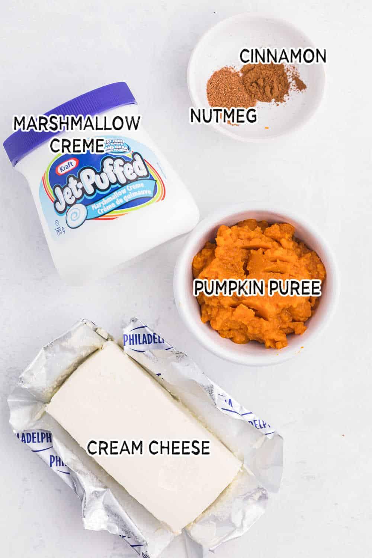 ingredients for Pumpkin Pie Dip