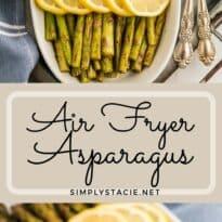 air fryer asparagus collage