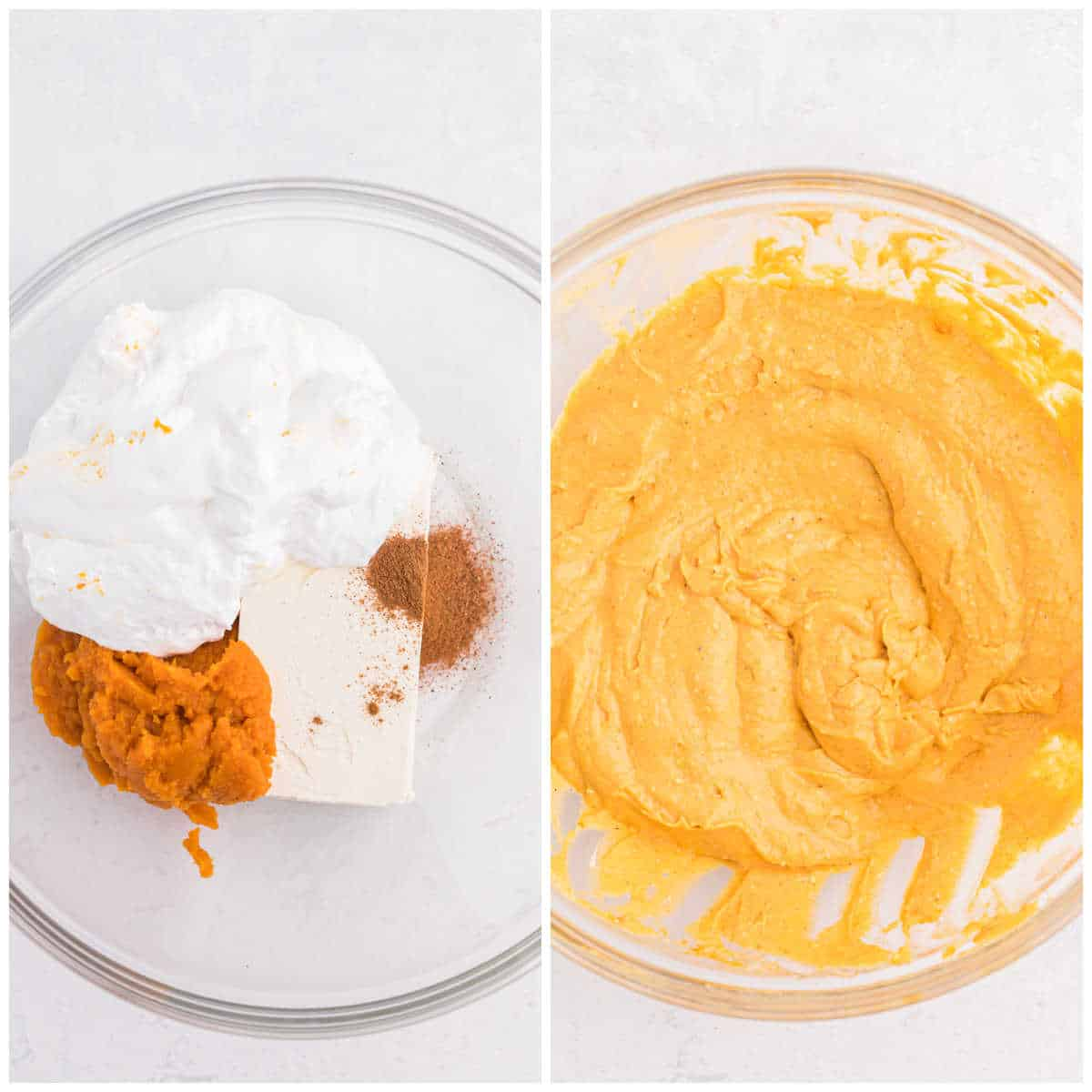 prep photos of pumpkin pie dip